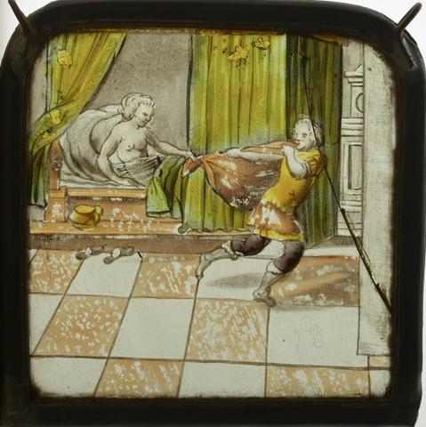 De vrouw van Potiphar probeert Jozef te verleiden