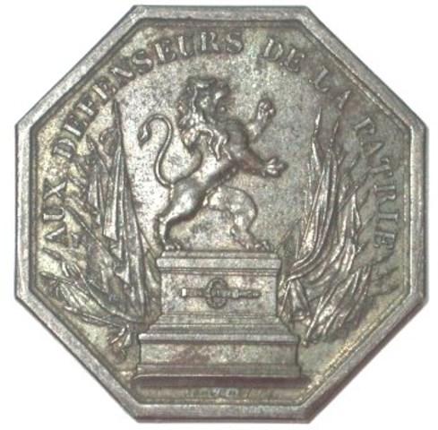 Erepenning aan de strijders voor de onafhankelijkheid van België, (1833)