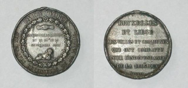 Erepenning van Brussel en Luik voor de strijders van de Belgische onafhankelijkheid, 1830