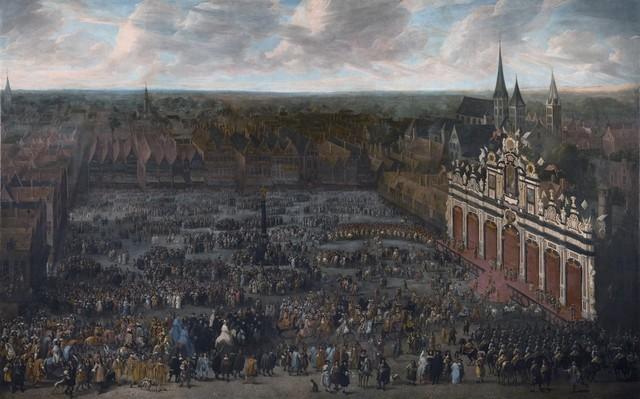 Inhuldiging van Karel II als graaf van Vlaanderen te Gent in 1666