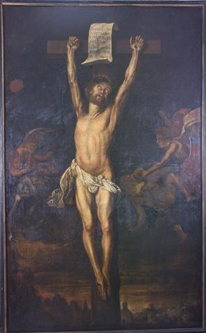 Christus aan het kruis overwinnaar van dood en zonde