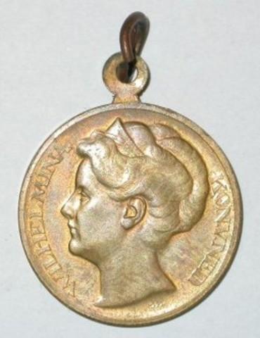 Gedenkpenning 25-jarig jubileum van Koningin Wilhelmina, 1923
