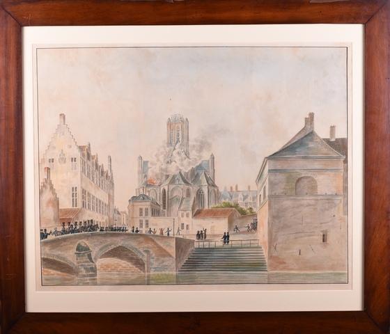 Brand van de St.-Baafskathedraal te Gent op 11 september 1822