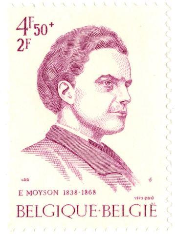 Postzegel met portret van Emile Moyson