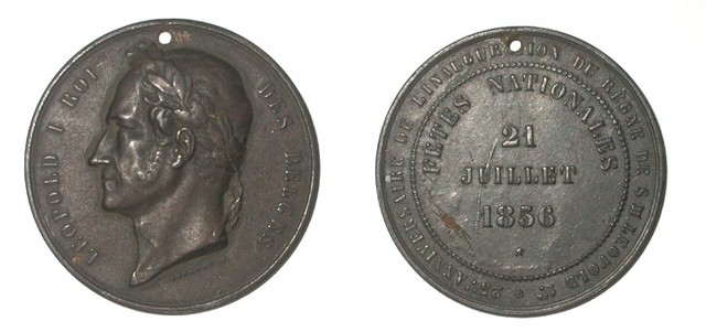 Gedenkpenning zilveren ambtsjubileum Leopold I, 1856