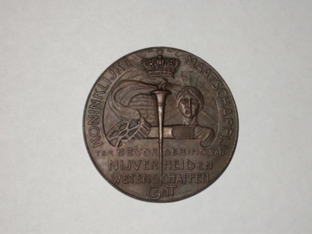 Prijspenning van de Koninklijke Maatschappij ter bevordering van Nijverheid en Wetenschappen van Gent, (1905)
