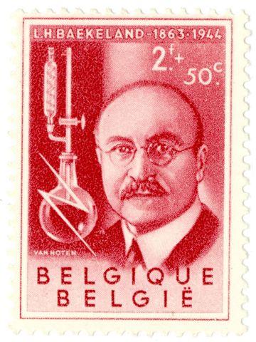 Postzegel met portret van Leo Baekeland