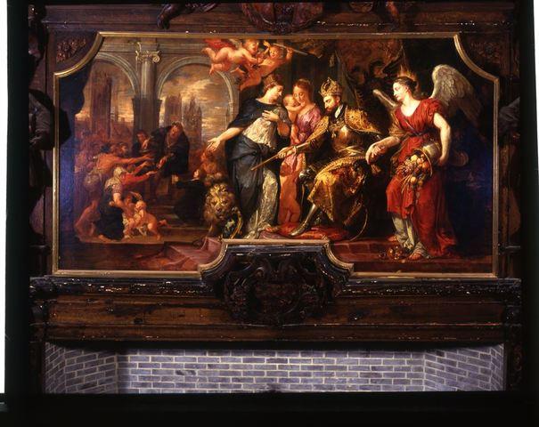 Stichting van de armenkamer door Karel V