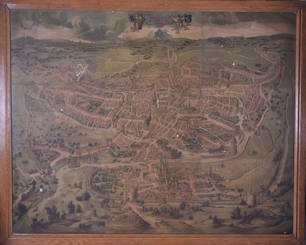 Gravure van het Panoramisch gezicht op Gent van 1534