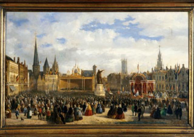 Inhuldiging van het standbeeld van Jacob van Artevelde