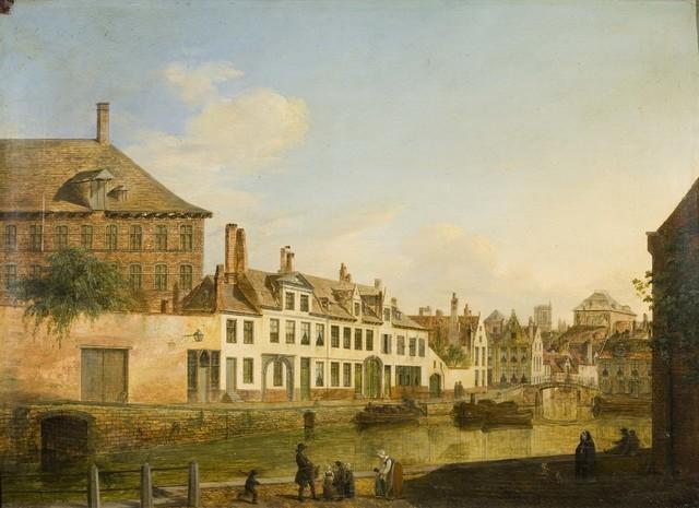 De Augustijnenkaai langs de Lieve te Gent