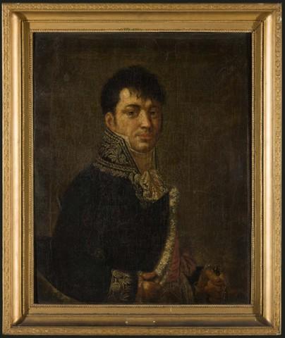 Portret van baron d'Houdetot