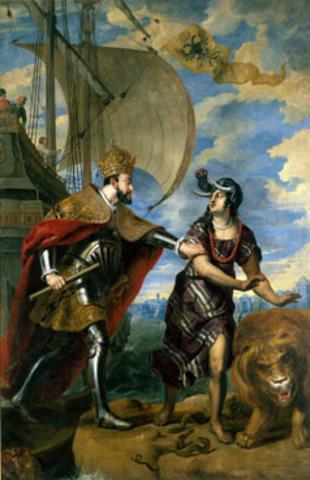 Karel V verovert Afrika