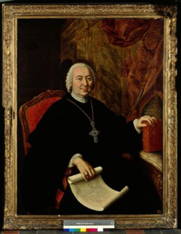 Portret van abt Gudwalus Seiger
