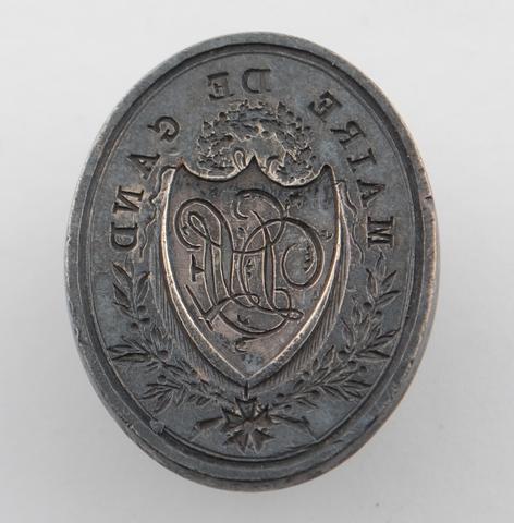 Zegelstempel van J. della Faille, burgemeester van Gent 1804-1808