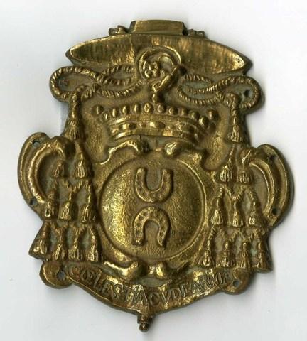Insigne met wapen van Jean-Baptiste De Smet,14de Bisschop van Gent