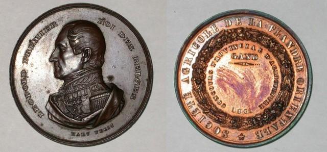 Prijspenning wedstrijd Landbouwmaatschappij, 1861