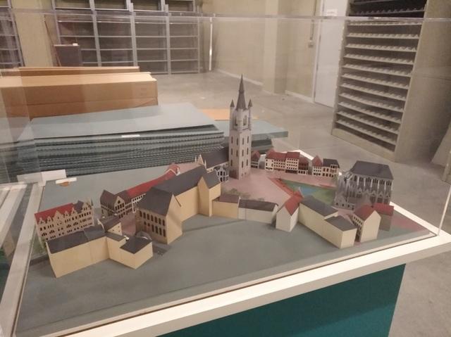 Maquette herinrichting Emile Braunplein en omgeving