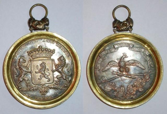 Prijspenning aan de verst komende maatschappij, boogschieting te Namur, 1846