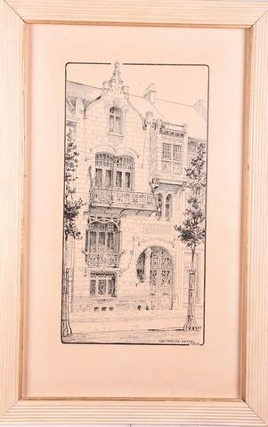 Voorgevel van het Art-Nouveau huis aan de Kunstlaan