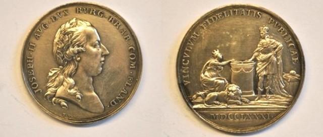 Gedenkpenning inhuldiging Keizer Jozef II als Graaf van Vlaanderen, 1781