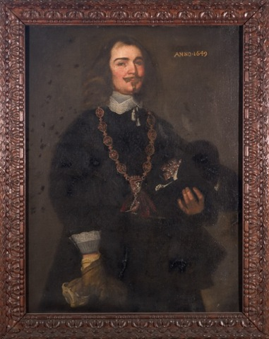 Portret van een koning van de Sint-Sebastiaansgilde te Gent