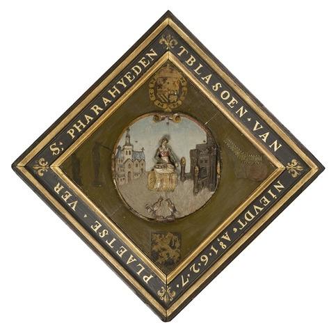 Wapenschild van de gebuurte van het Sint-Veerleplein te Gent