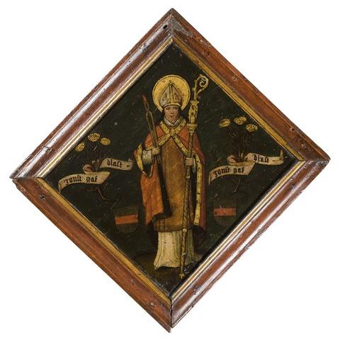 Ongeïdentificeerd blazoen met afbeelding van Sint-Lieven