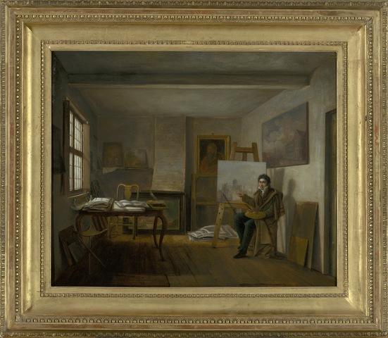 Zelfportret van P.F. De Noter in zijn atelier, 1817