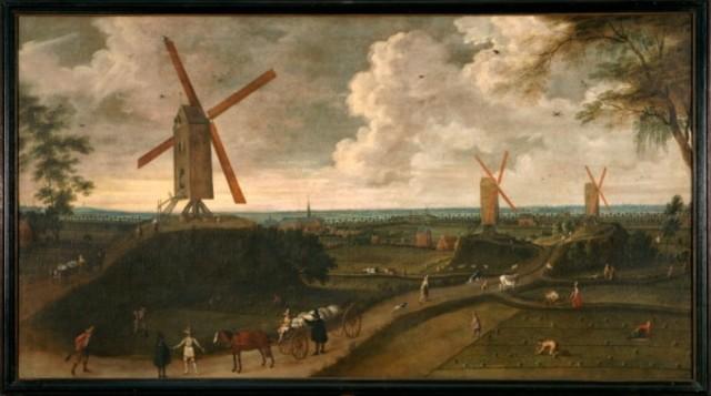 Gezicht op Akkergem voor het graven van de Coupure