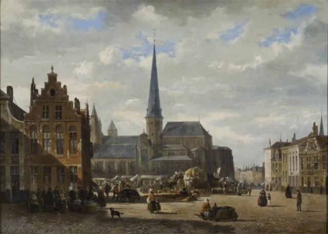 De Sint-Jacobsmarkt en de Vlasmarkt te Gent