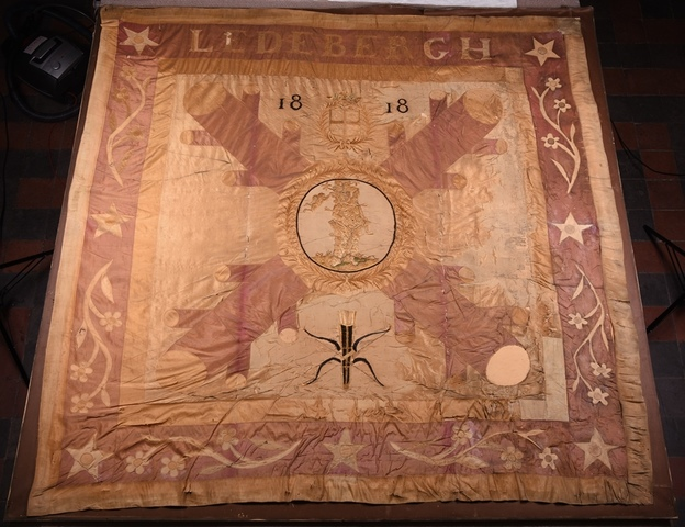 Vlag van de Sint-Sebastiaansgilde Ledeberg
