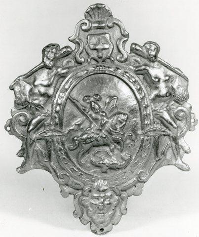 Twee kentekens van de Sint-Jorisgilde Antwerpen