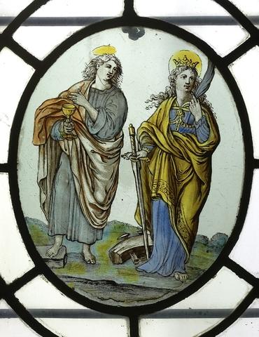 Johannes de Evangelist en de Heilige Catharina