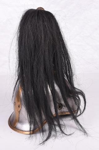 helm met bovenop paardehaar van Spaanse curassier