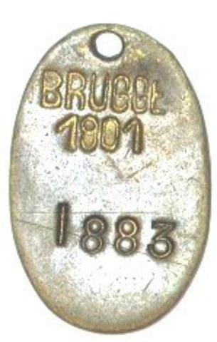 Hondenpenning Brugge, 1901