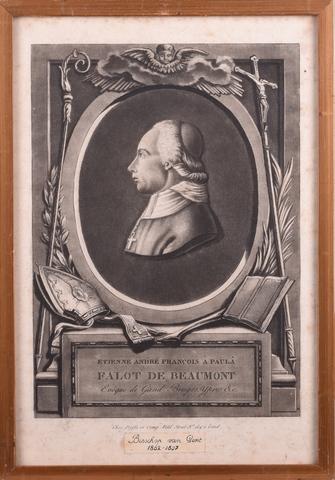 Medaillonportret van Etienne André François à Paulà Falot de Beamont
