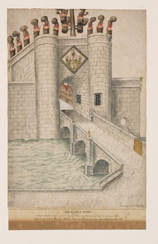 Sint-Jorispoort te Gent in 1584