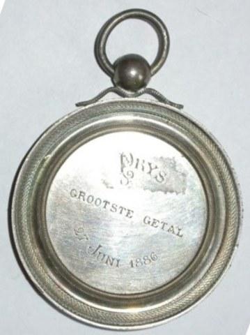 Prijspenning St-Sebastiaan St-Andries voor het grootste getal schutters, 1886