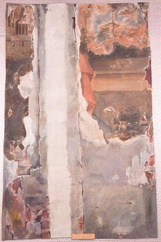 Kopie op ware grootte van een verdwenen muurschildering in het huis Spijkboort