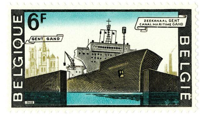Postzegel Zeekanaal Gent