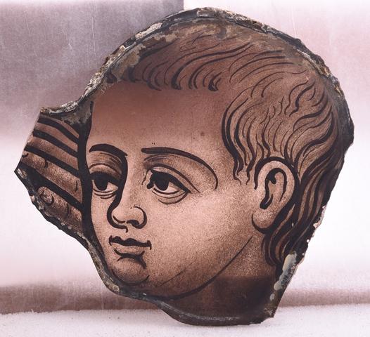 glasraamfragment, kinderkopje