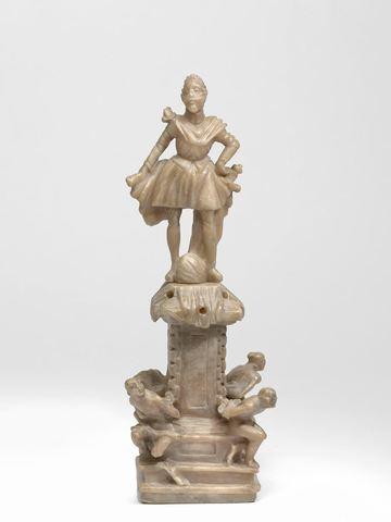 beeldje : kleine copie van het standbeeld van Ferdinando I de medici te Livorno