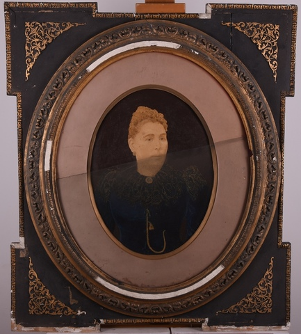 Portret van een vrouw, bijgewerkte foto