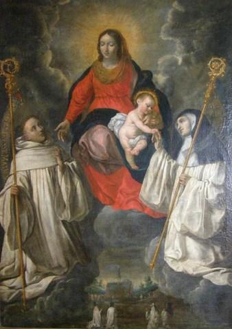 Onze-Lieve-Vrouw met de heilige Bernardus en de heilige Humbelina   | RKD: 49956