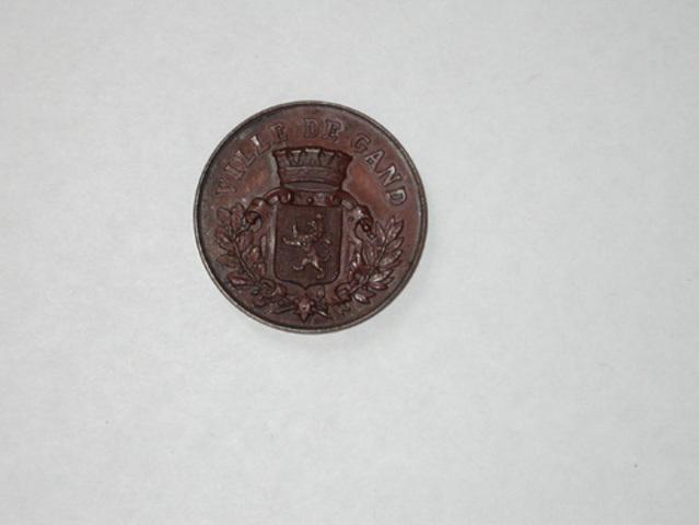 Gedenkpenning aan de vergadering te Gent van de  Société Royale de Numismatique Belge, 1888