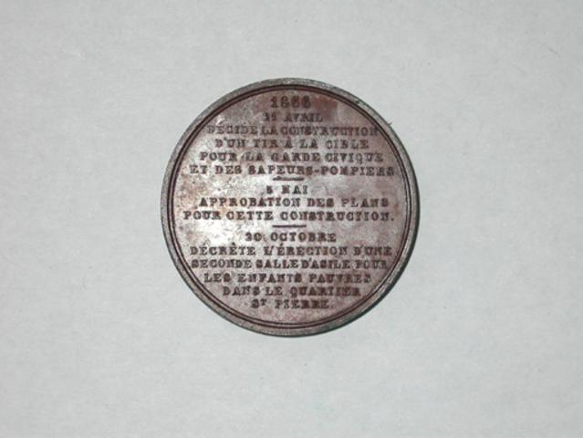 Aanwezigheidspenning van het stadsbestuur van Ieper, 1866