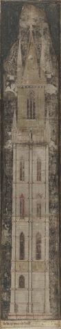 Dbweerp van den beelfroete, Architectuurtekening van het Gentse belfort