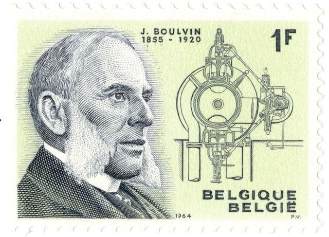 Postzegel met portret van Jules Boulvin