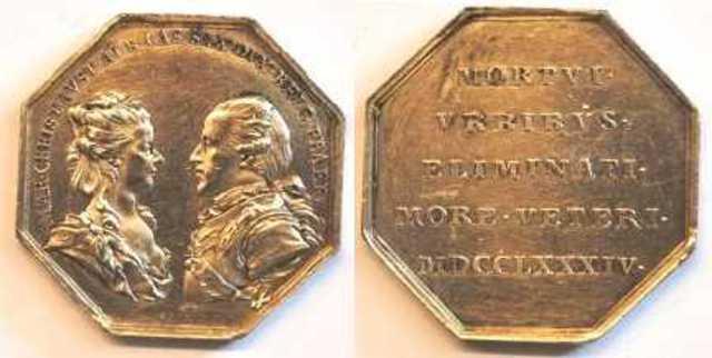 Nieuwjaarspenning van Maria Christina en Albert van Saksen, 1785